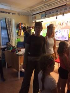 Timon, Pumba och Simba kom på besök och sjöng Hakuna matata för alla barnen.