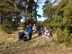 AnnaKArin pratade om övergödningen och dess effekter på djur-och växtliv i Vänern.